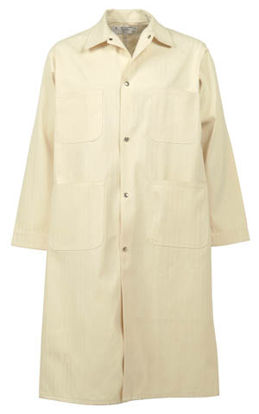 Picture of Natural Herringbone Butcher Coat-Snap Closure (DISCONTINUED STYLE)