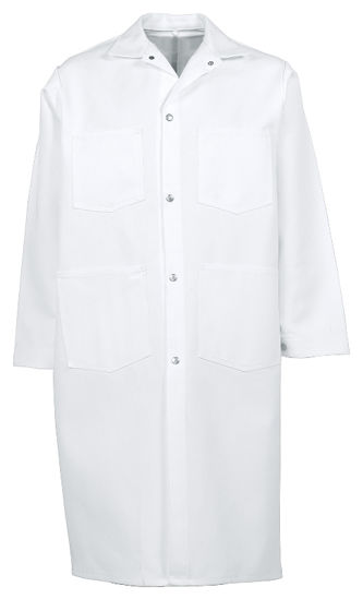 Picture of Extra-Heavy Twill Snap-Front Butcher Coat (with pockets)