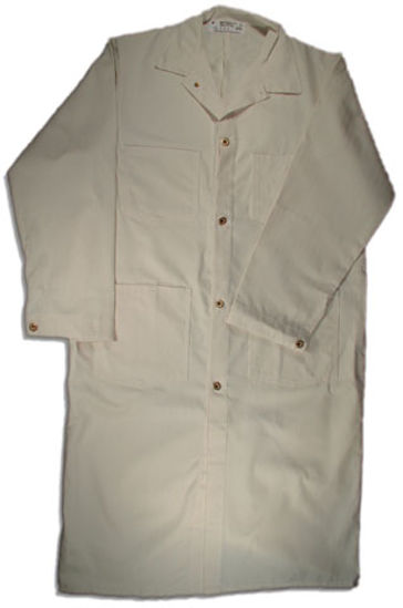 Picture of Natural Herringbone Butcher Coat-Brass Button Closure (DISCONTINUED STYLE)