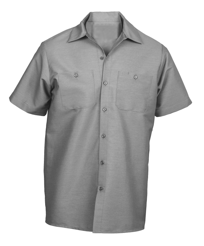 Picture of Cotton (Wrinkle-Resistant) Work Shirt- Short Sleeve