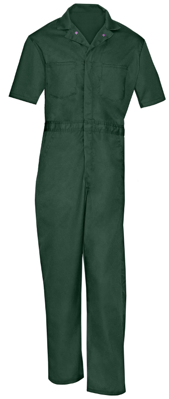 Picture of 65% Polyester/35% Cotton Action Back Zipper Closure Coverall (Heavy Weight)- Short Sleeve