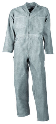 Picture of Cotton Zipper Closure Coverall-Fisher Herringbone (Long Sleeve or Short Sleeve)-BIG AND TALL SIZES AVAILABLE