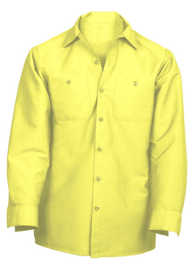 Picture of NEW! Industrial Work Shirt- Long Sleeve (YELLOW)