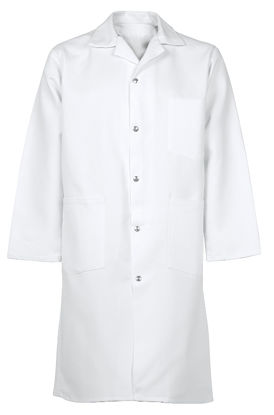 Picture of Spun Poly Snap-Front Butcher Coat (with pockets)