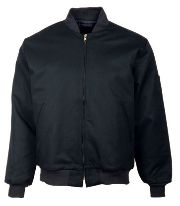 Picture of Black (DISCONTINUED COLOR) Solid Team Jacket