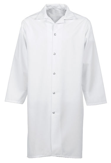 Picture of Spun Poly Snap-Front Butcher Coat (no pockets)
