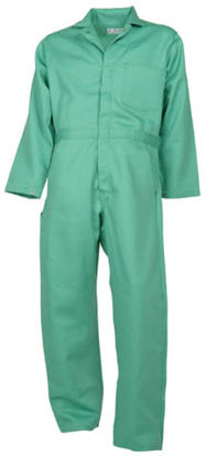 Picture of Proban®FR-7A® Visual Green Coverall (one chest pocket) -select sizes MADE IN THE USA