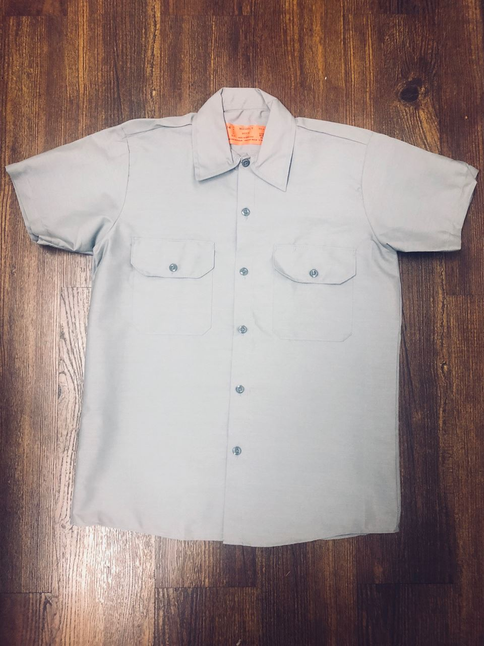 Picture of Gray Work Shirt with Flaps-Long & Short Sleeve-Men's and Boy's Sizes