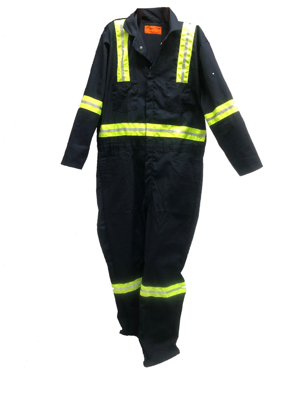 Picture of Navy Blue Off-Shade Cotton Brass Button Closure Coverall (Long Sleeve)