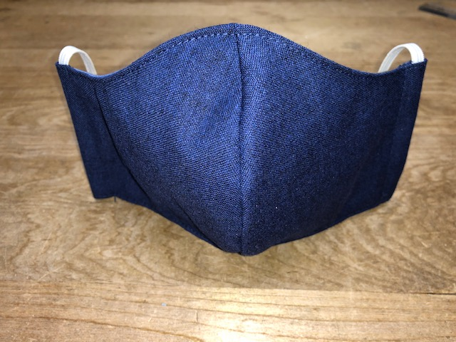 Picture of Face Mask (elastic ear loops) for MEN OR WOMEN with Filter Pocket-Washable-Double Layer-Follows CDC Guidelines