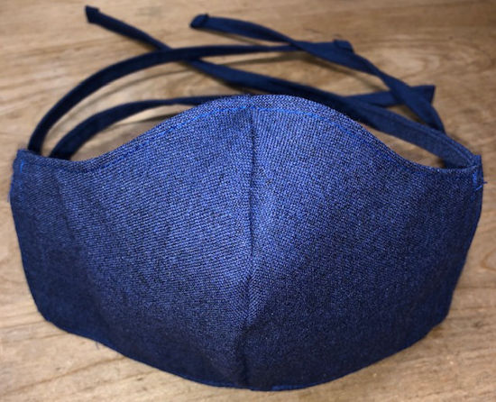 Picture of Face Mask (worn with double ties)-UNISEX SIZING-with Filter Pocket-Washable-Double Layer-Follows CDC Guidelines
