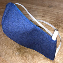 Picture of Face Mask (worn behind the head with a double elastic strap) for Men or Women with Filter Pocket-Navy Blue