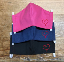 Picture of Add an embroidered heart-red thread