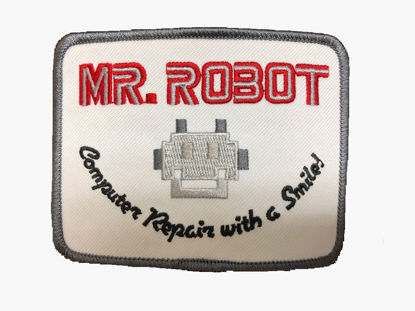 Picture of Mr. Robot Patch (unattached)-FREE SHIPPING-IRREGULAR