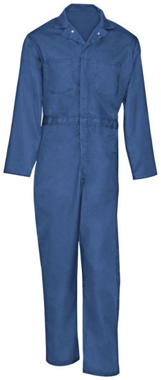 Picture of Cotton Zipper Closure Coverall (Heavy Weight)-Long Sleeve, Postman Blue-48 Regular