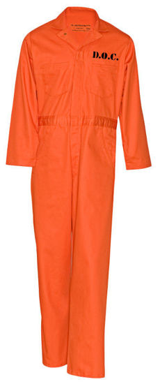Picture of Prison Jump Suit for Halloween